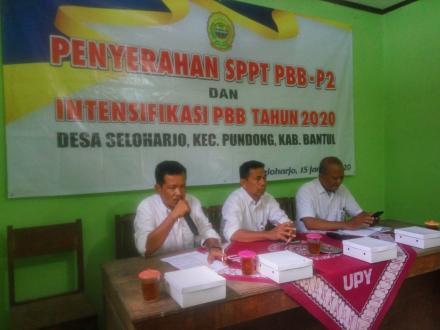 PENYERAHAN SPPT PBB - P2 DAN INTENSIFIKASI PBB TAHUN 2020